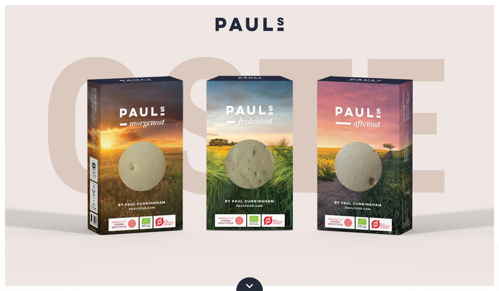 Pauls morgenost, frokostost og aftenost